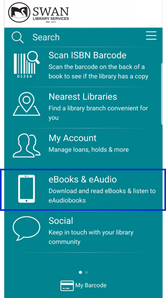 eBooks & eAudio on the home screen
