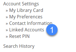 linked accounts in account settings.