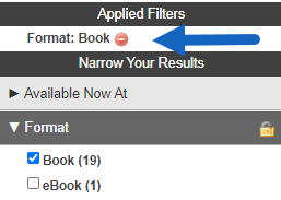 applied filters.