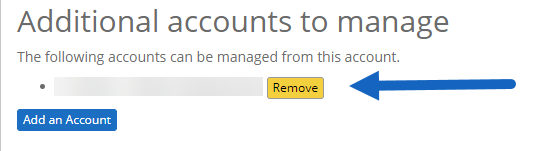 remove linked account.